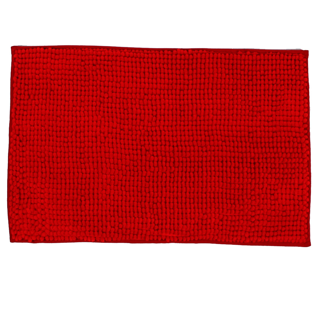 Household Bathroom Soft Slip Resistant Absorbent Bath Mat Carpet Red 24 x 16 Inch