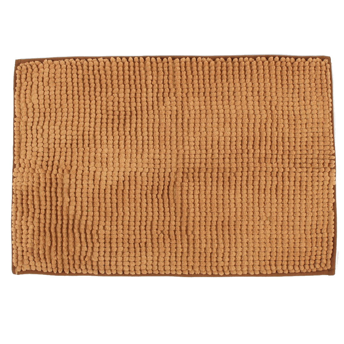 Household Bathroom Washable Non Slip Absorbent Bath Mat Light Brown 24 x 16 Inch