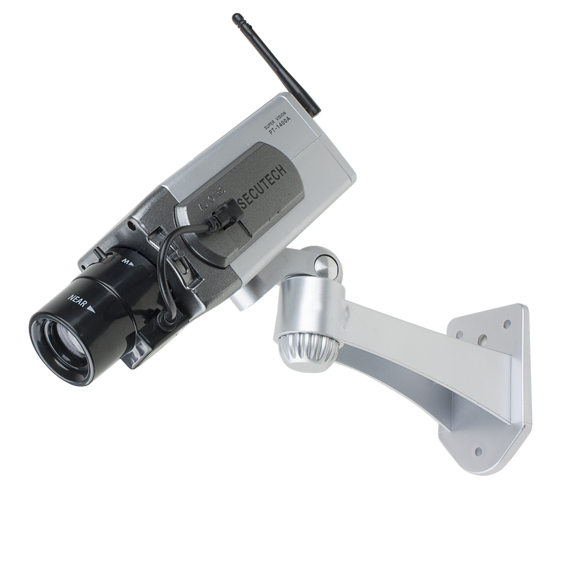 Fake CCTV Dummy Realistic Looking Security Camera Red LED Light Warning AA Battery Powered