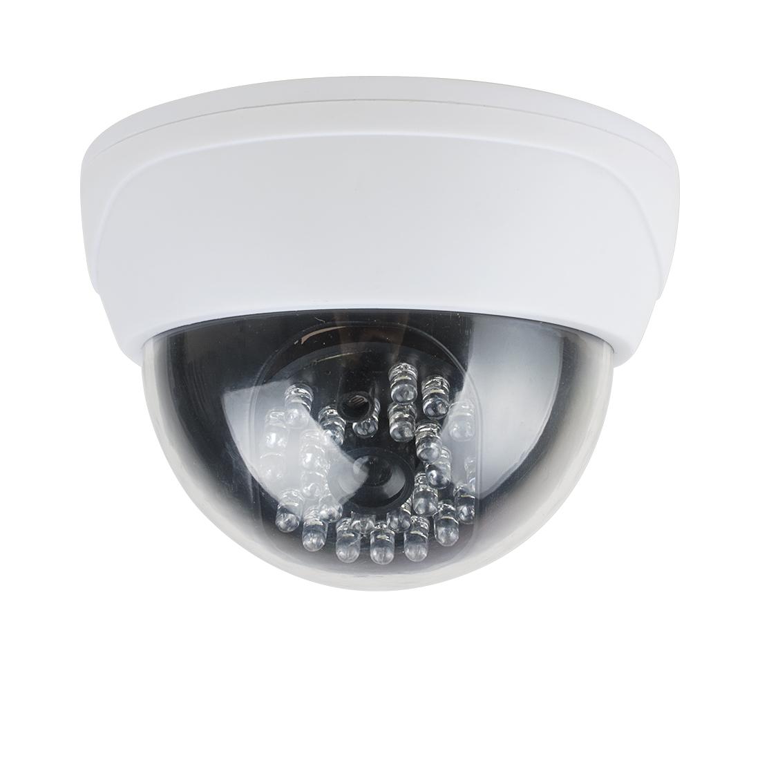 Fake Dummy Realistic Looking Security Camera Light Sensor AA Battery Powered