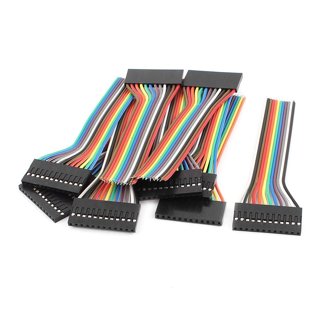 10 Pcs Female 12P Jumper Wires Ribbon Cables Pi Pic Breadboard DIY 10cm Long