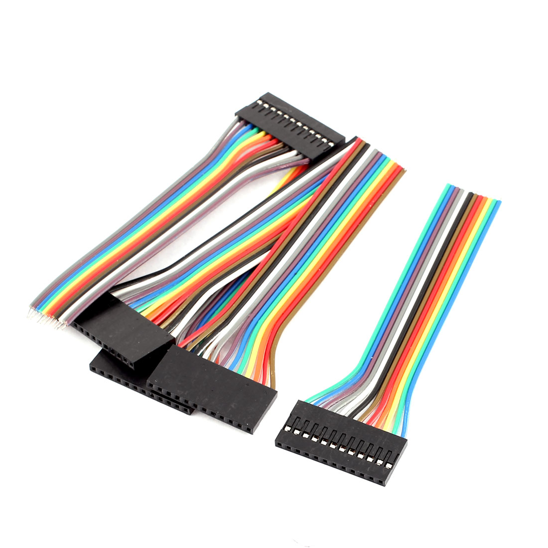 5PCS 2.54mm Pitch 12P Female Breadboard Single Head Jumper Wire Cable 10cm Long
