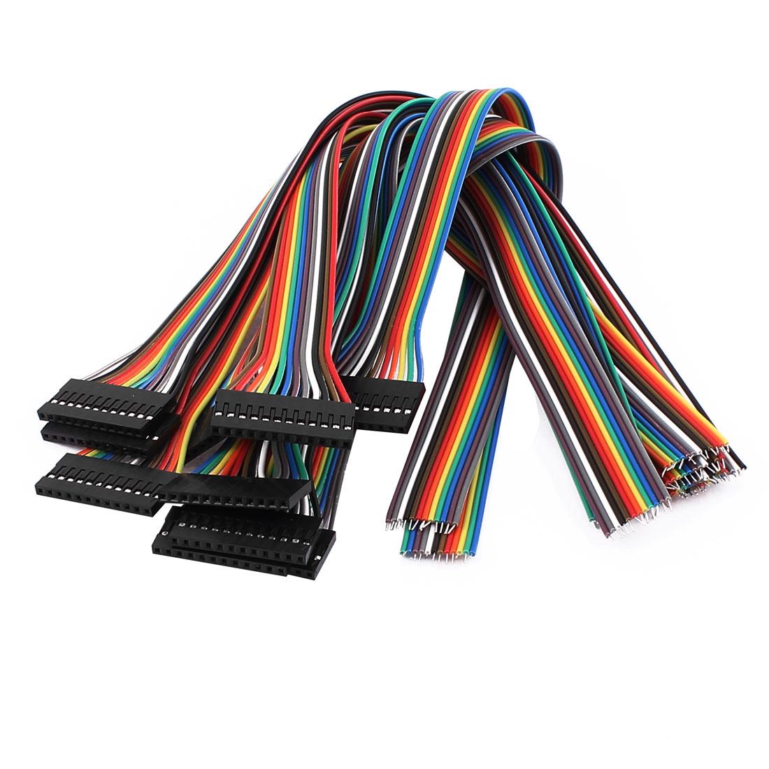 10 Pcs 12P Jumper Wires Female Ribbon Cables Pi Pic Breadboard 30cm Long