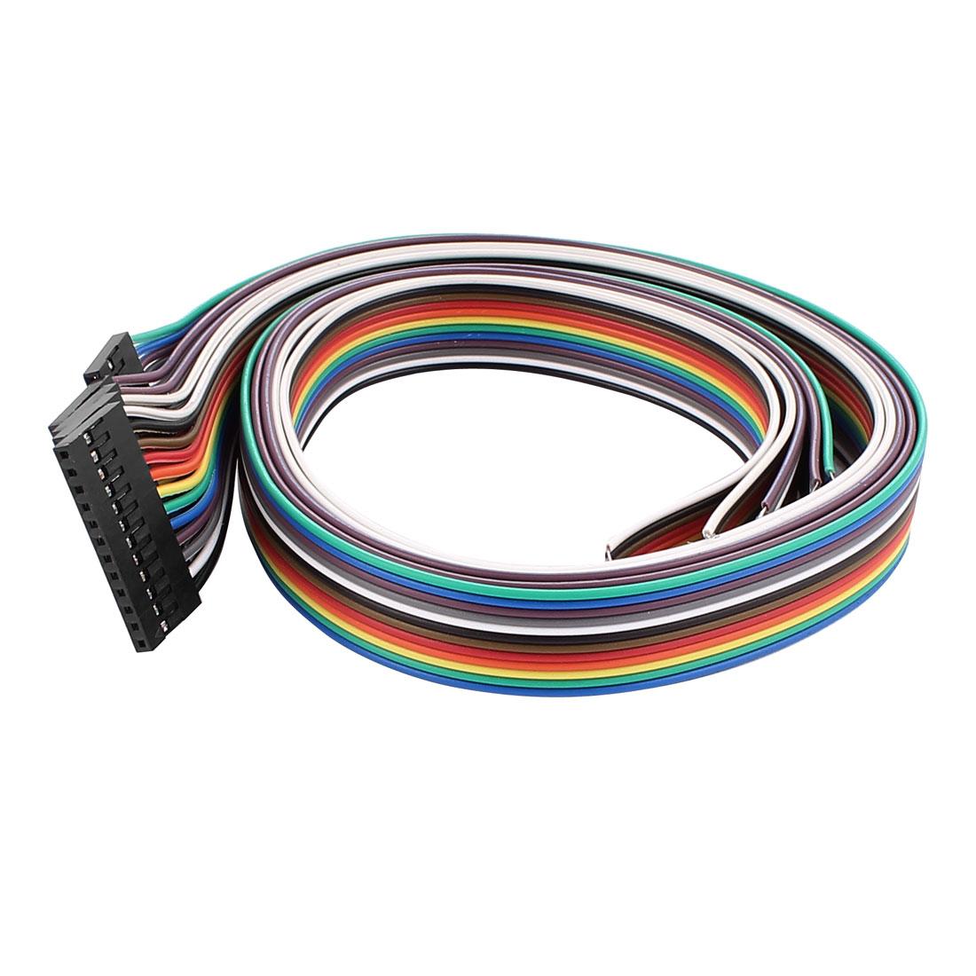 5 Pcs Female 12P Jumper Wires Ribbon Cables Pi Pic Breadboard DIY 50cm Long