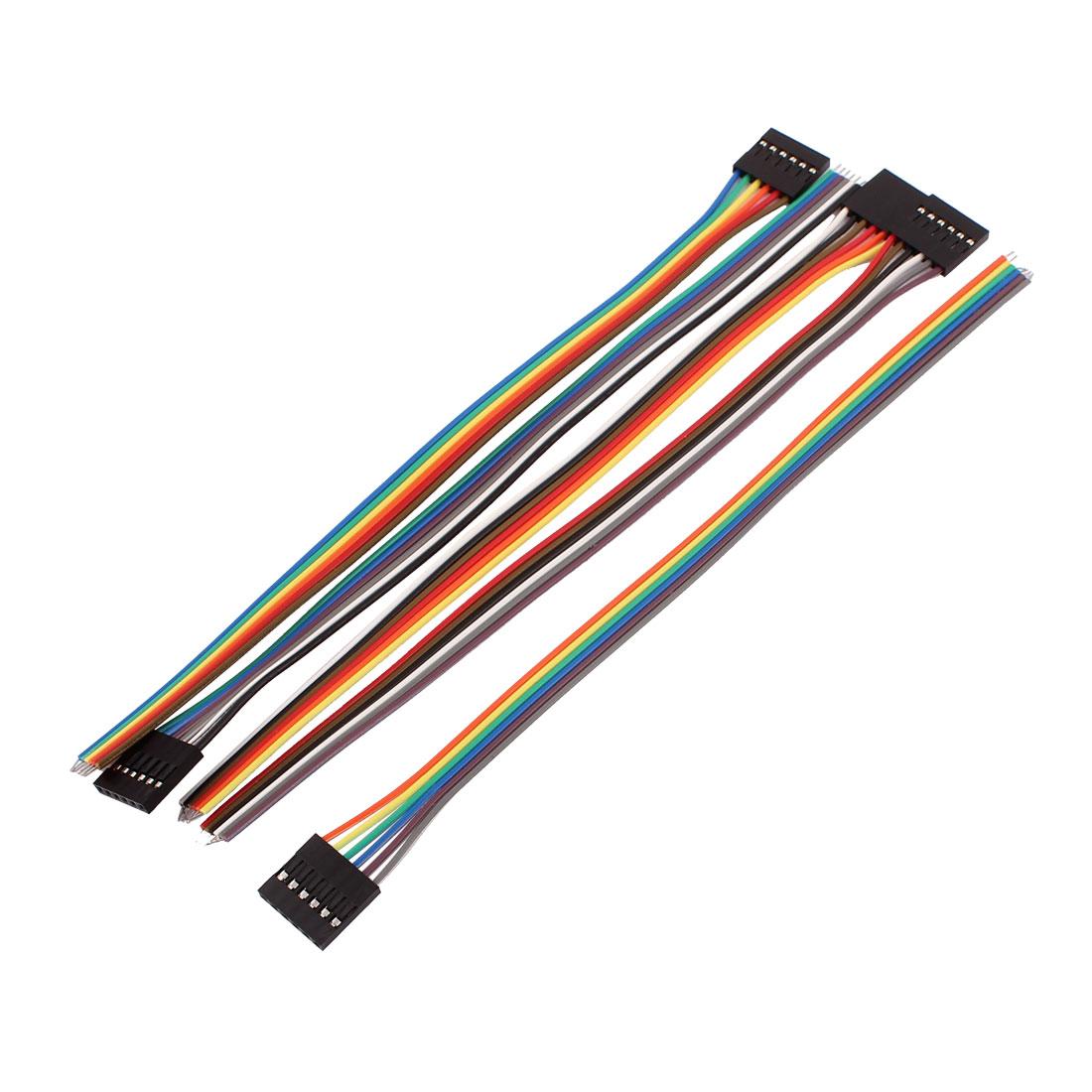 5 Pcs 6P Jumper Wires Female Ribbon Cables Pi Pic Breadboard DIY 20cm Long