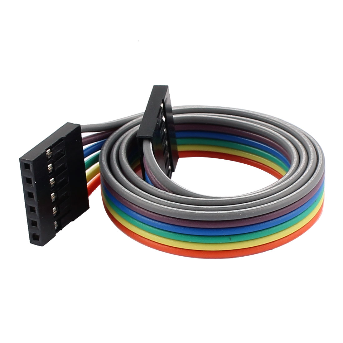 2.54mm Pitch 6P Female Breadboard Double Head Jumper Wire Cable 40cm Length