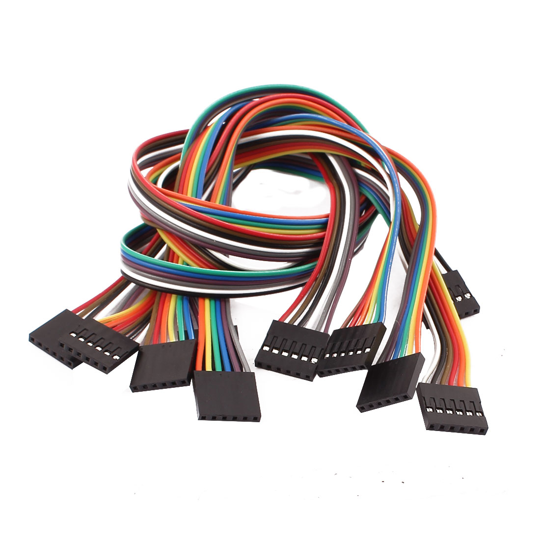 5 Pcs Female to Female 6P Jumper Wire Ribbon Cable Pi Pic Breadboard DIY 40cm Long