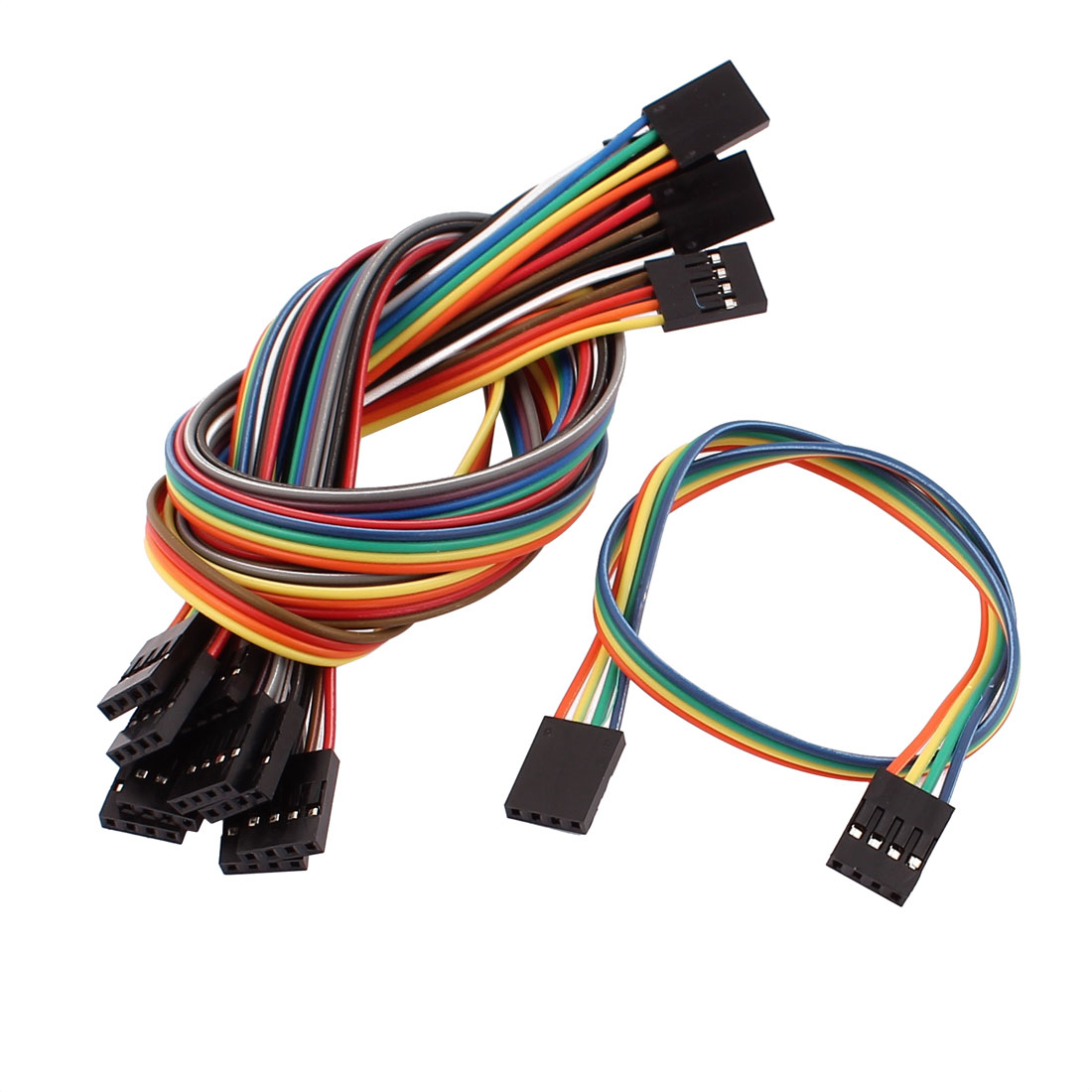 10 Pcs Female to Female 4P Jumper Wire Ribbon Cable Pi Pic Breadboard DIY 30cm Long