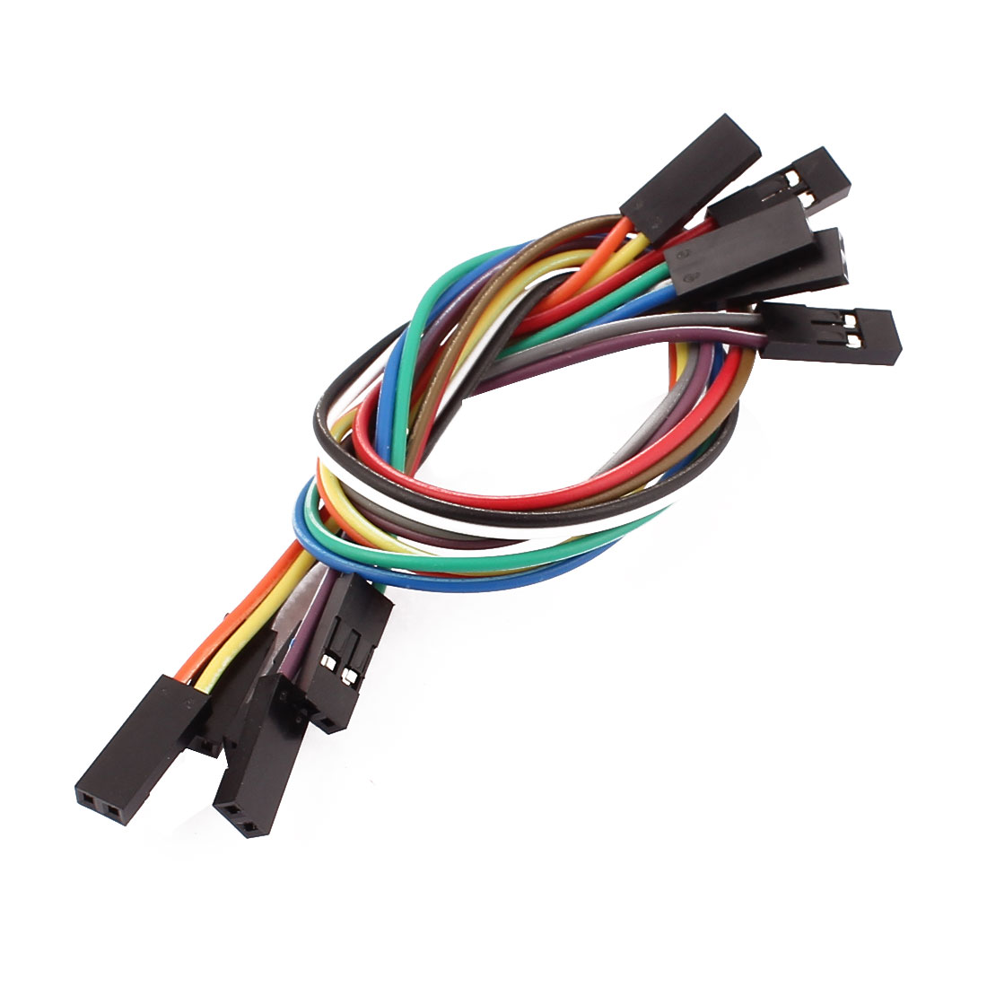 5 Pcs Female to Female 2P Jumper Wires Ribbon Cables Pi Pic Breadboard DIY 20cm Long