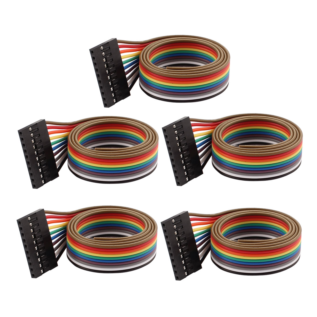 5 Pcs 10P Jumper Wires Female Ribbon Cables Pi Pic Breadboard DIY 40cm Long
