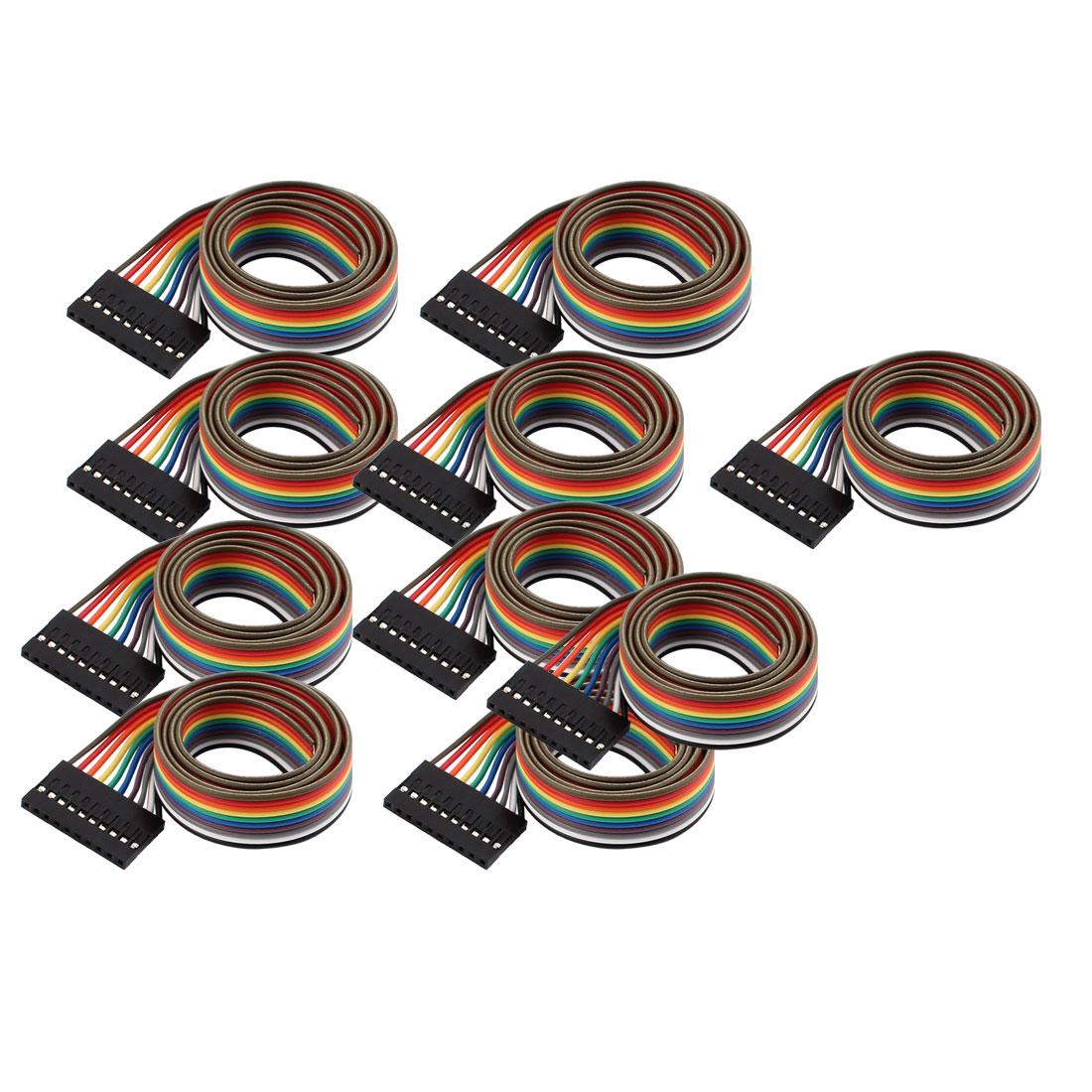 10 Pcs 10P Jumper Wires Female Ribbon Cables Pi Pic Breadboard DIY 50cm Long