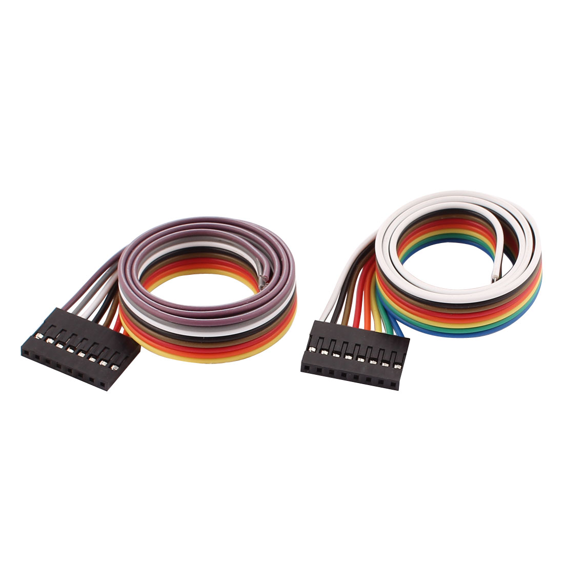2Pcs Female 8P Jumper Wires Ribbon Cables Pi Pic Breadboard DIY 40cm Long