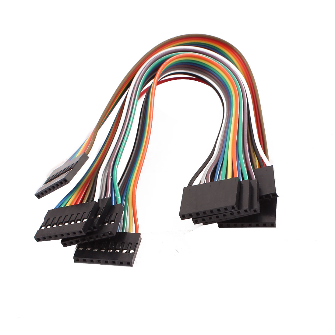 5 Pcs Female to Female 8P Jumper Wires Ribbon Cables Pi Pic Breadboard DIY 20cm Long