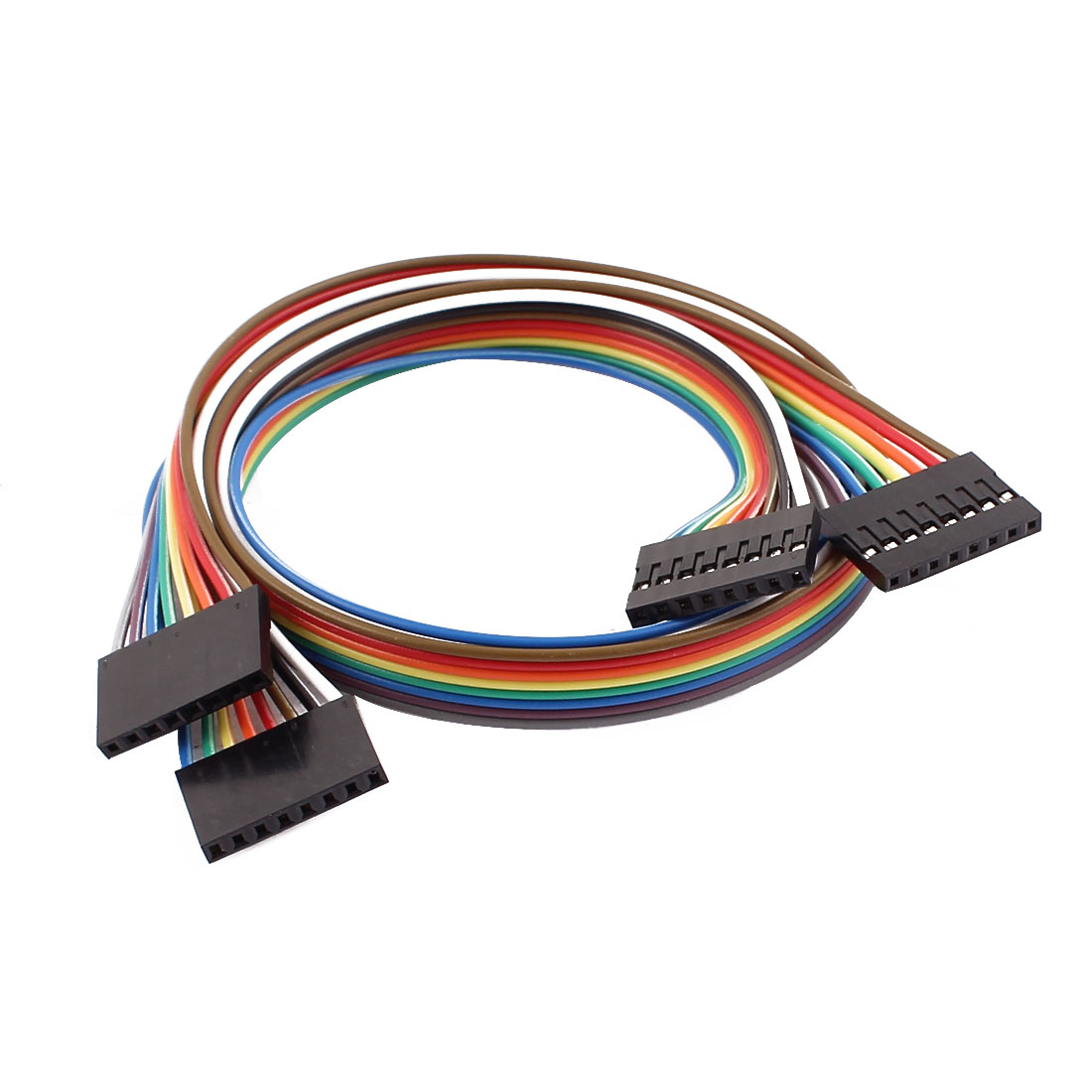 2 Pcs Female to Female 8P Jumper Wires Ribbon Cables Pi Pic Breadboard DIY 40cm Long