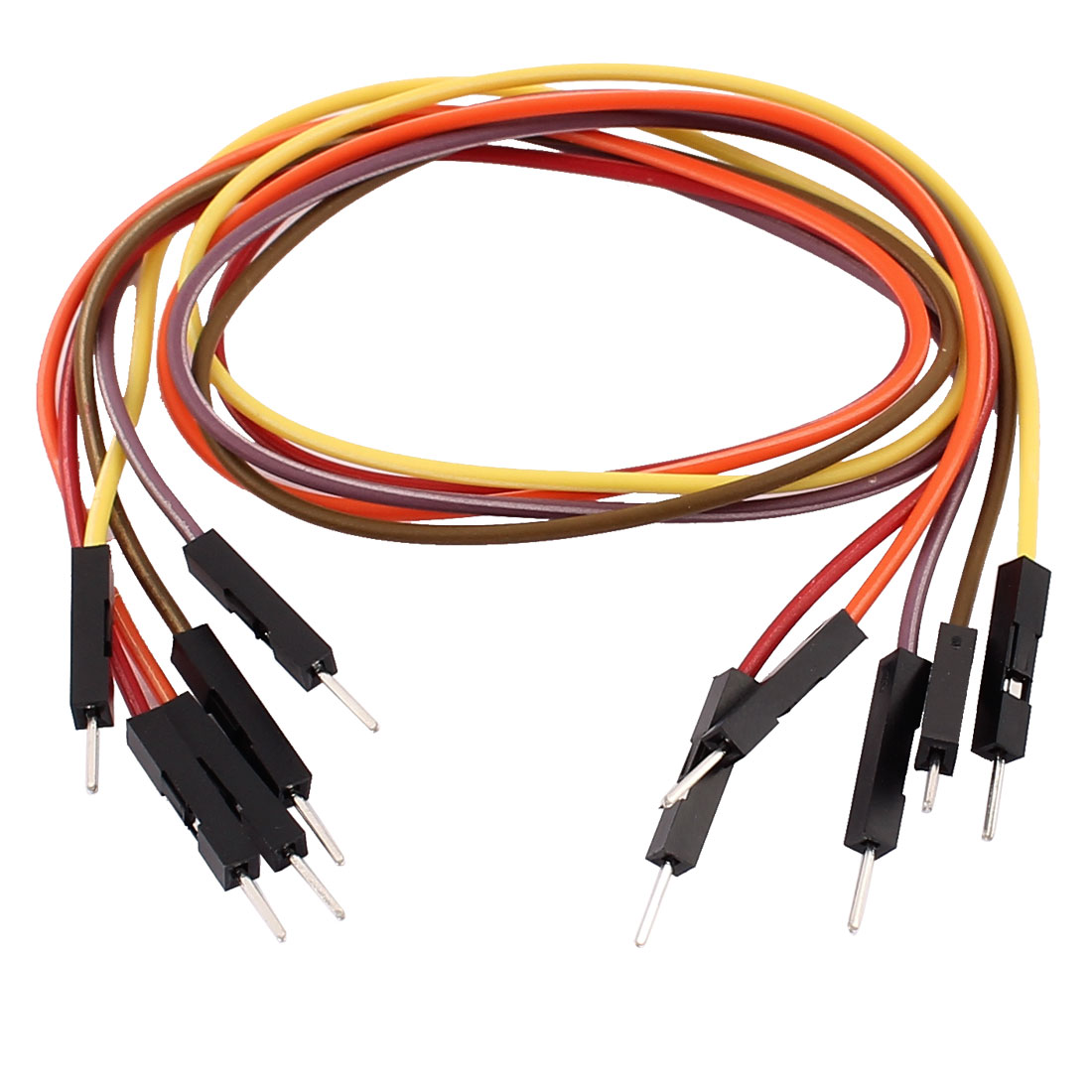 5PCS 2.54mm Pitch 1P Male Breadboard Double Head Jumper Wire Cable 30cm Length