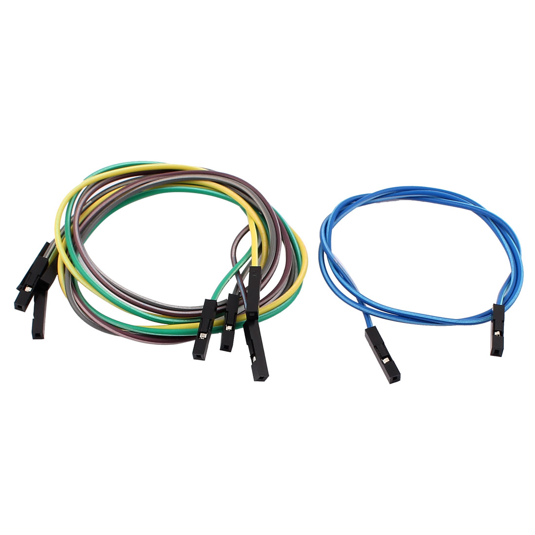 5PCS 2.54mm Pitch 1P Female Breadboard Double Head Jumper Wire Cable 40cm Length