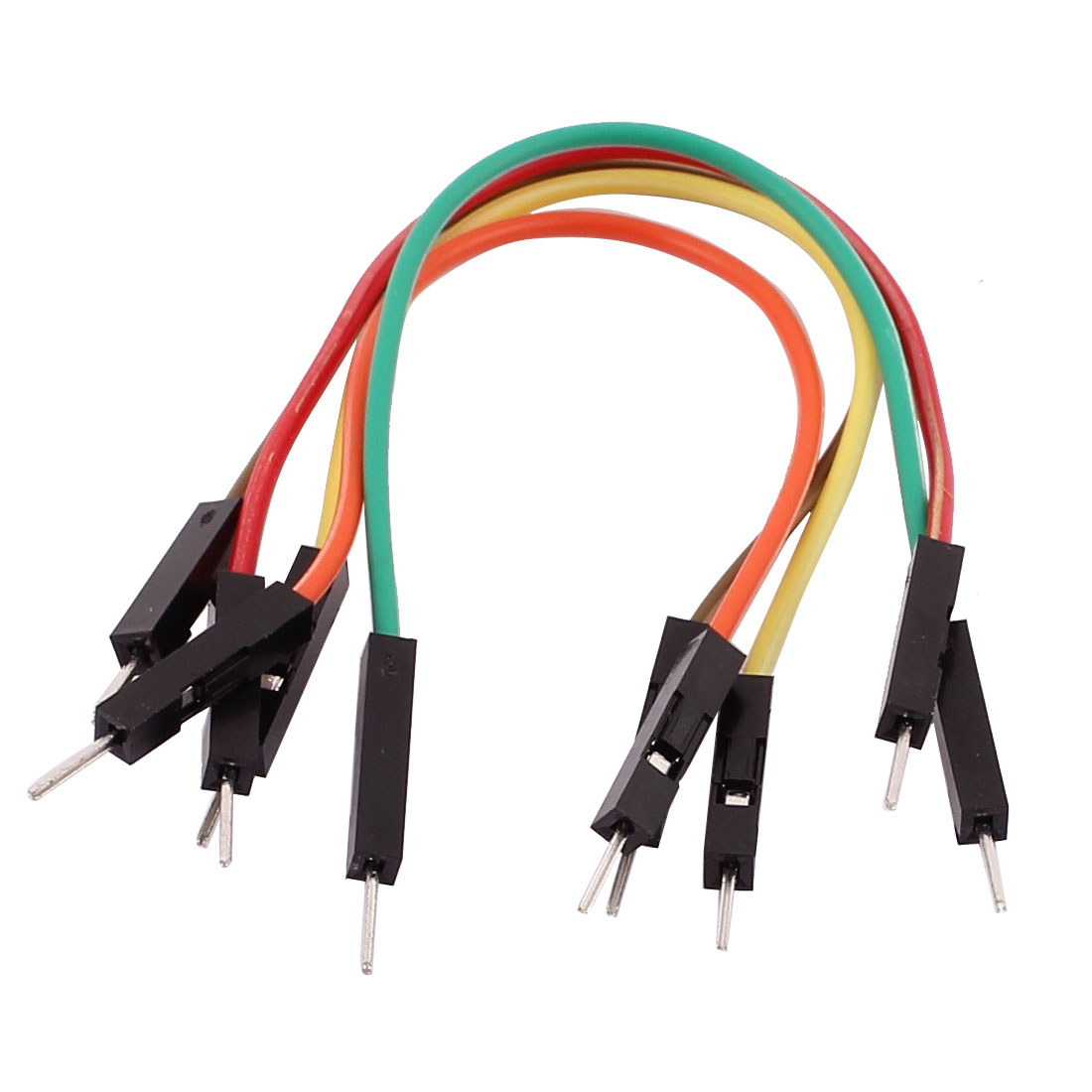 5PCS 2.54mm Pitch 1P Male Breadboard Double Head Jumper Wire Cable 10cm Length