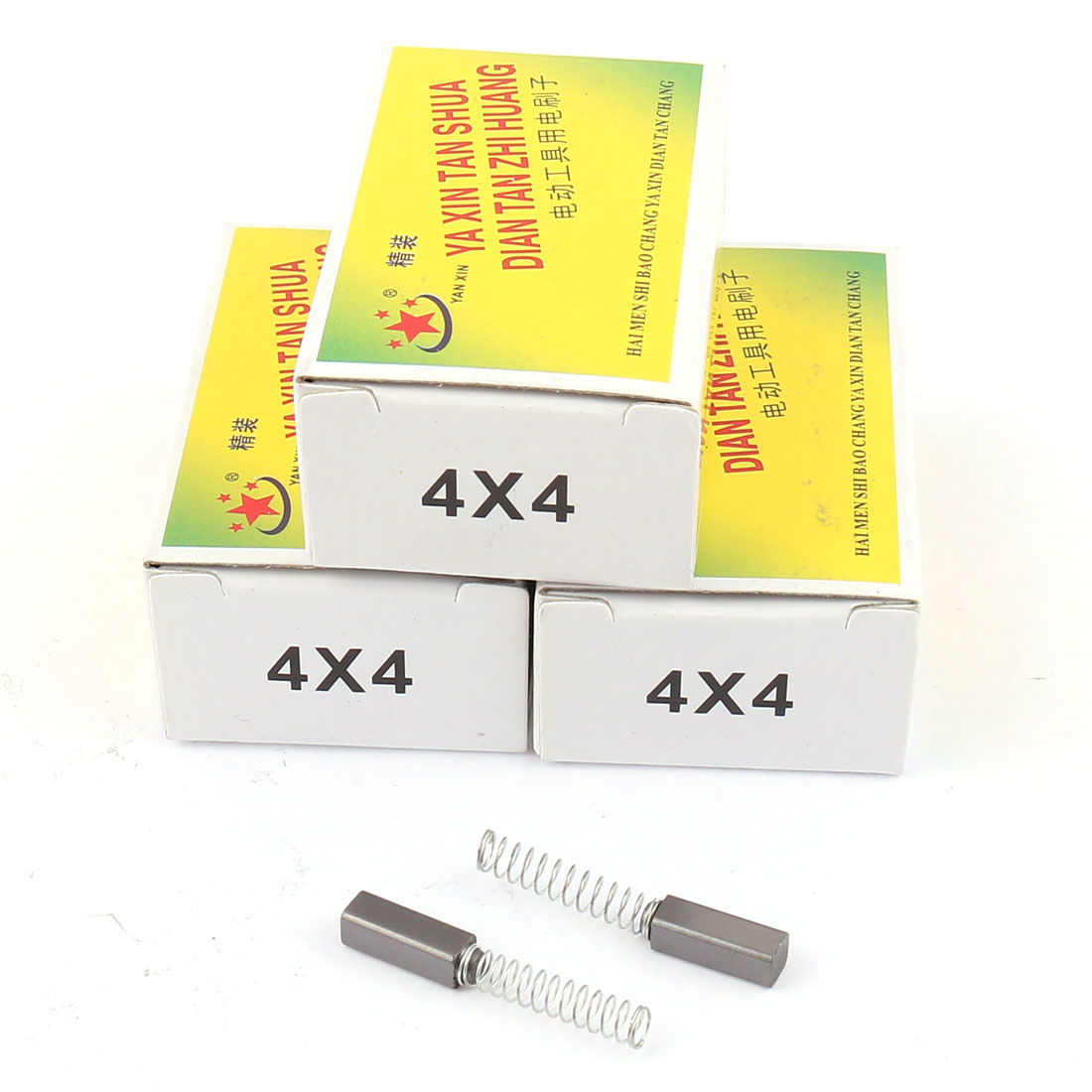 4 Pairs Replacement Carbon Brushes 9mm x 4mm x 4mm for Generic Electric Motor