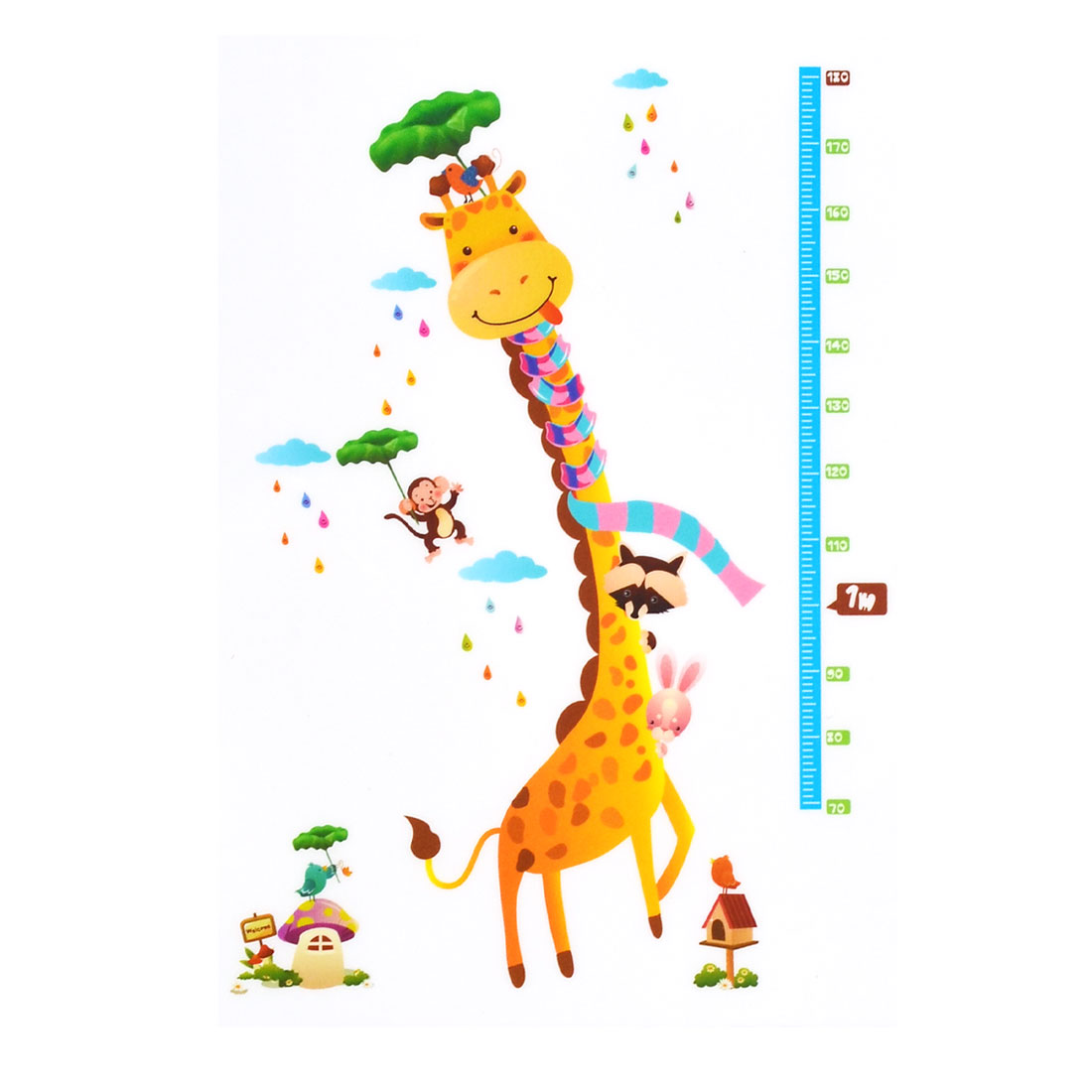 Living Room PVC Giraffe Printed DIY Ornament Wall Sticker Decal Mural 60 x 90cm