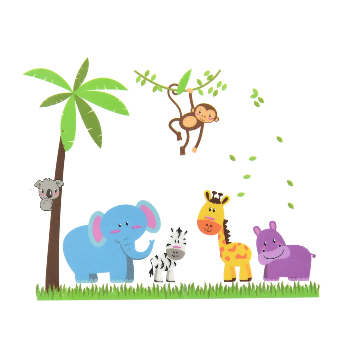 Bedroom PVC Animals Tree Print DIY Removable Wall Sticker Decal Mural 60 x 90cm