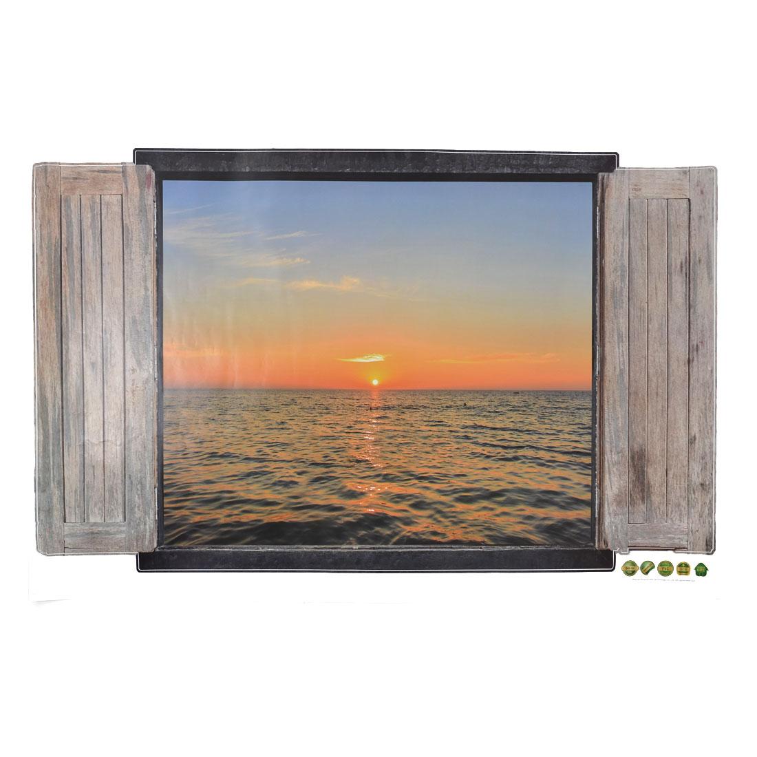 Home PVC Sea Sunset Prints DIY Ornament Wall Sticker Decal Mural 60 x 90cm