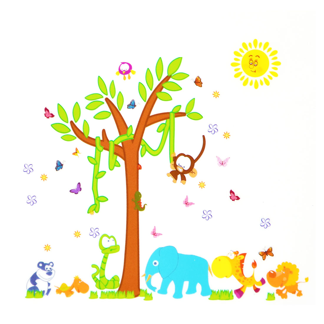 Living Room PVC Animals Prints DIY Ornament Wall Sticker Decal Mural 60 x 90cm