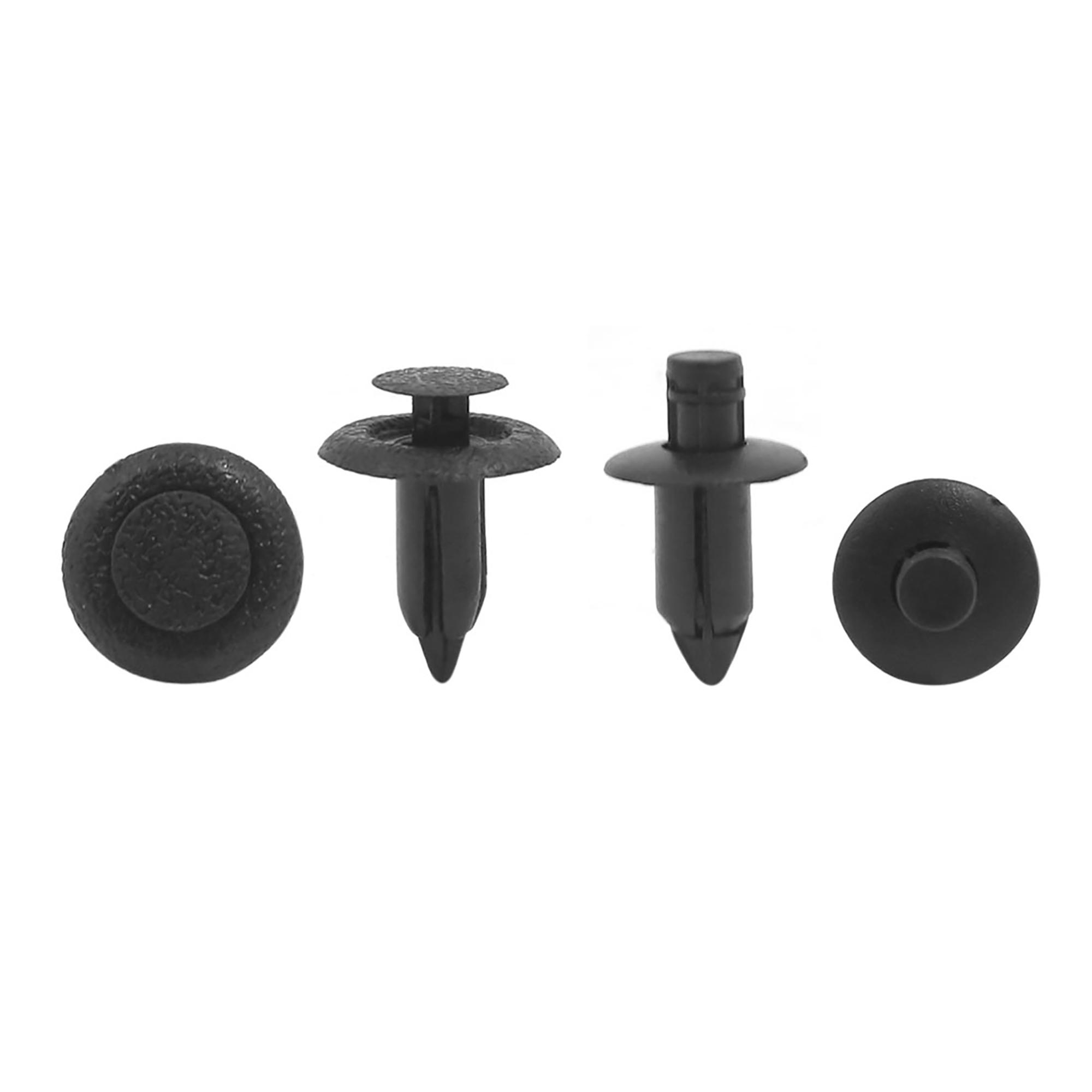 20 Pcs Black Plastic Defender Door Fastener Clips 6mm 7mm Hole Rivets for Suzuki