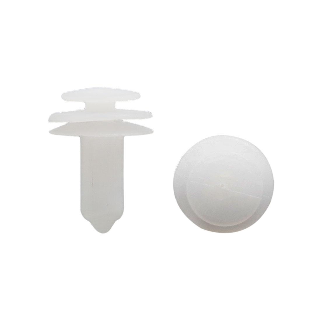 10pcs Plastic Screw Fastener Rivet Retainers Push Pin Clip for 7mm Dia Hole