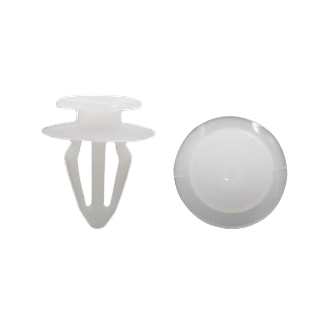 10pcs White Plastic Rivets Fasteners 10mm Dia Hole for Car Auto Bumper Fender