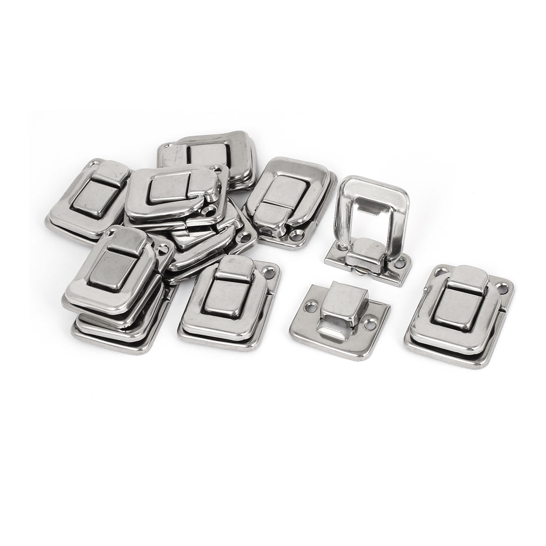 Toolbox Stainless Steel Box Toggle Latch Hasp Silver Tone 38mm Length 10pcs