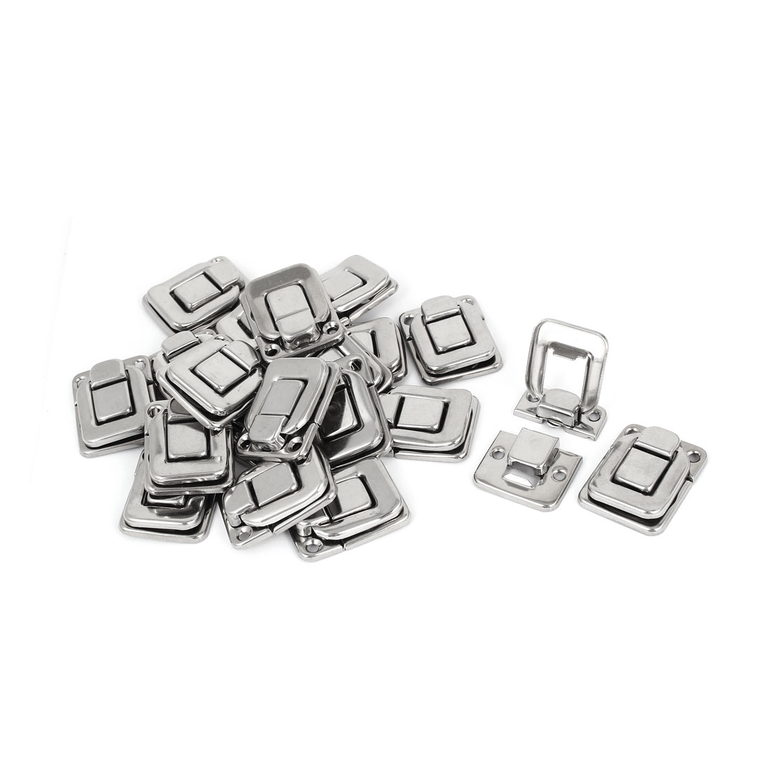 Toolbox Stainless Steel Box Toggle Latch Hasp Silver Tone 38mm Length 20pcs
