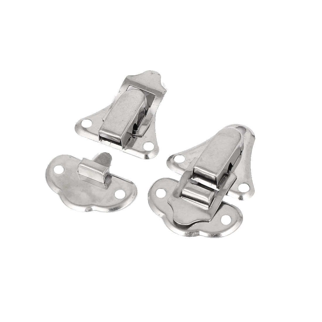 45mm x 30mm x 8mm Stainless Steel Box Toggle Latch Hasp Silver Tone 2pcs