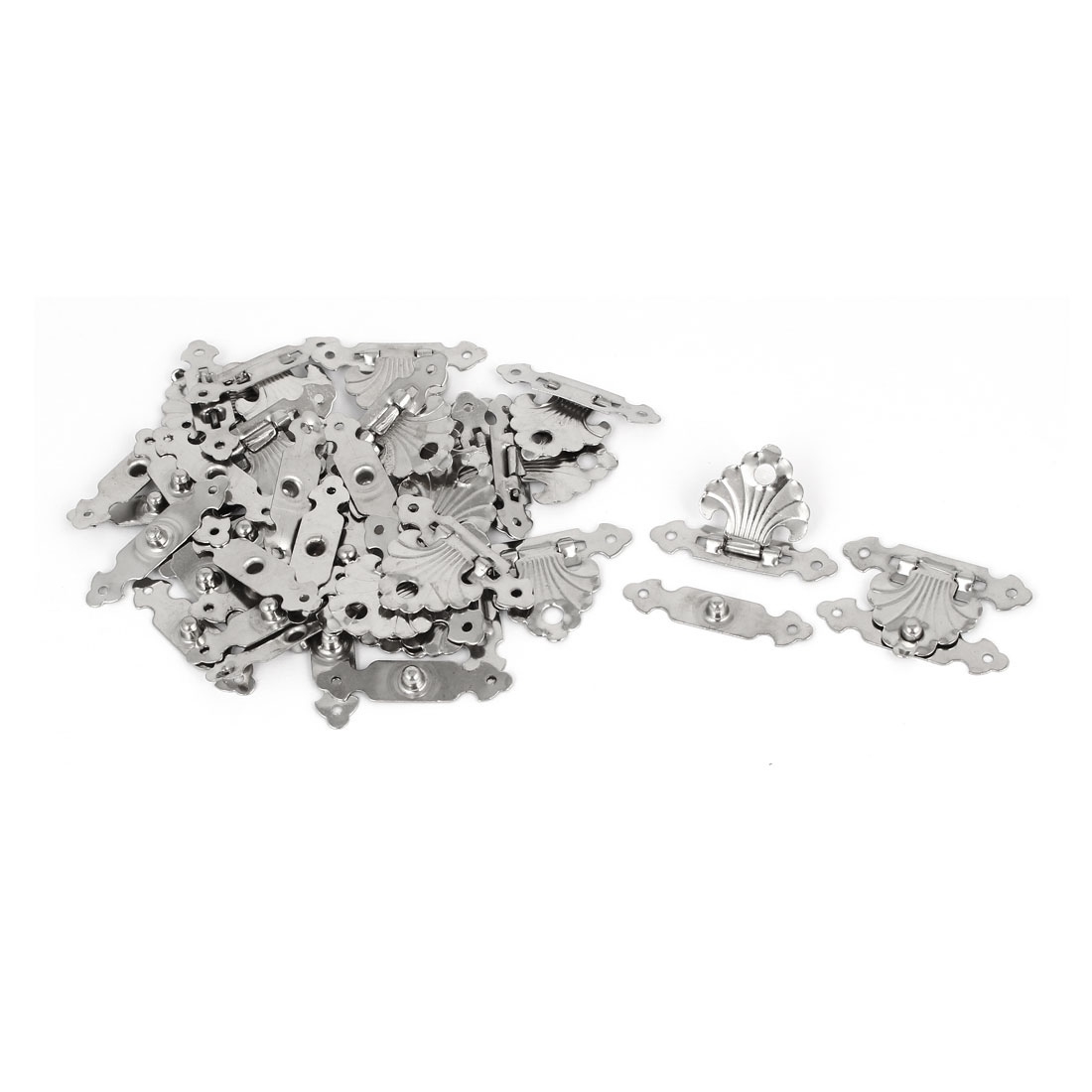 Toolbox Cases Iron Box Toggle Latch Hasp Silver Tone 36mm x 24mm x 4mm 20pcs