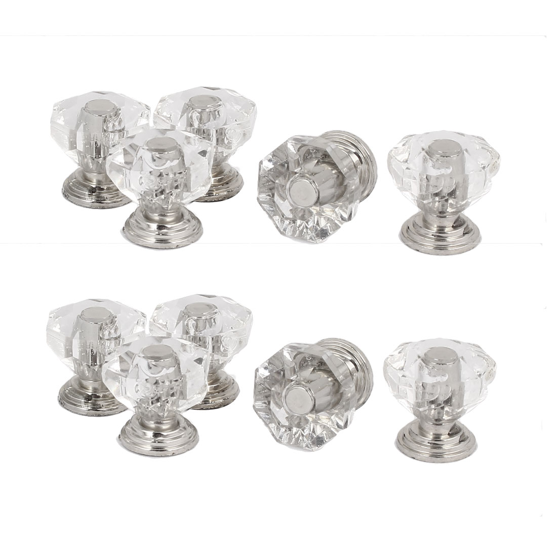 Cabinet Drawer Diamond Shape Pull Handle Knob 20x18mm 10pcs