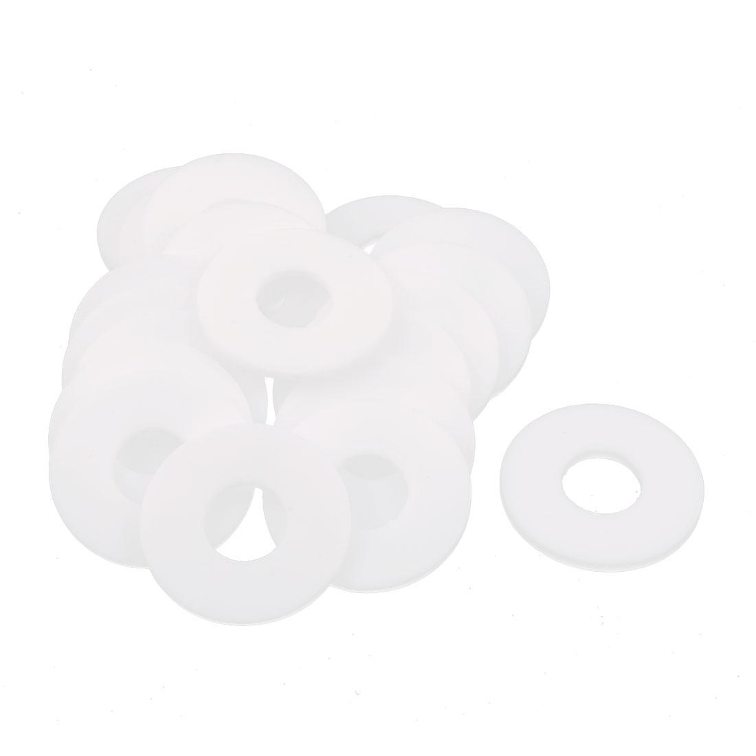 20 Pcs DN15 45 x 18 x 3mm PTFE Flange Gasket Sanitary Pipe Fitting Ferrule White