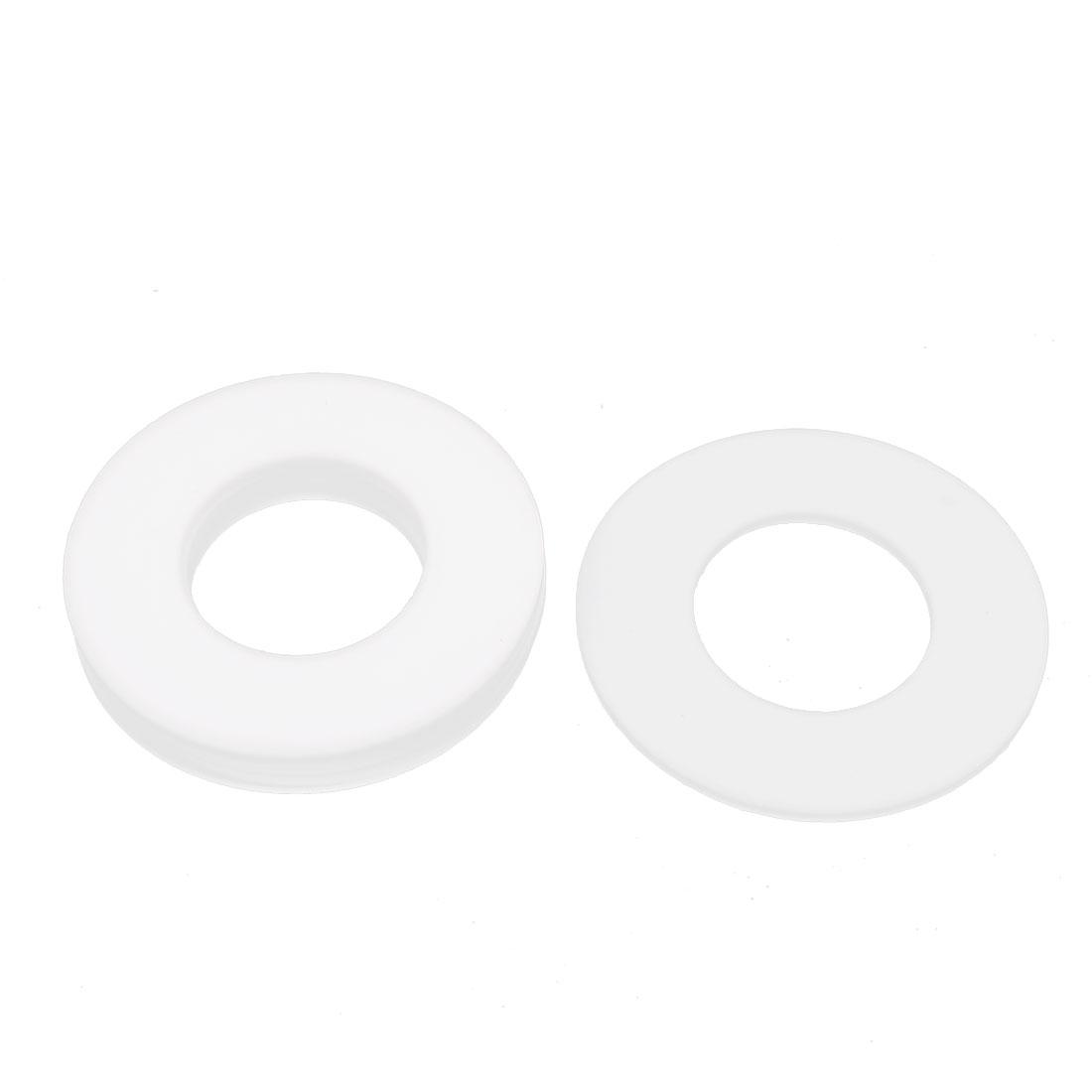 5 Pcs DN40 88 x 45 x 3mm PTFE Flange Gasket Sanitary Pipe Fitting Ferrules White