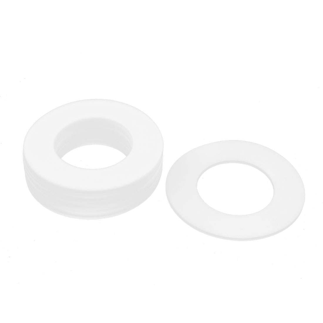 DN50 102 x 57 x 3mm PTFE Flange Gasket Sanitary Pipe Fitting Ferrule White 10Pcs