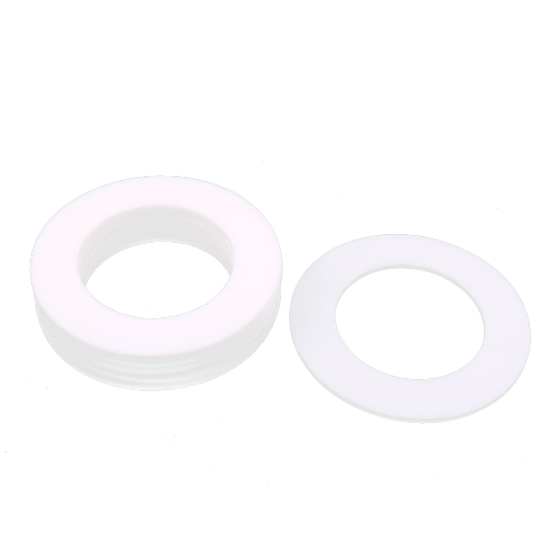 DN65 122 x 76 x 3mm PTFE Flange Gasket Sanitary Pipe Fitting Ferrule White 10Pcs