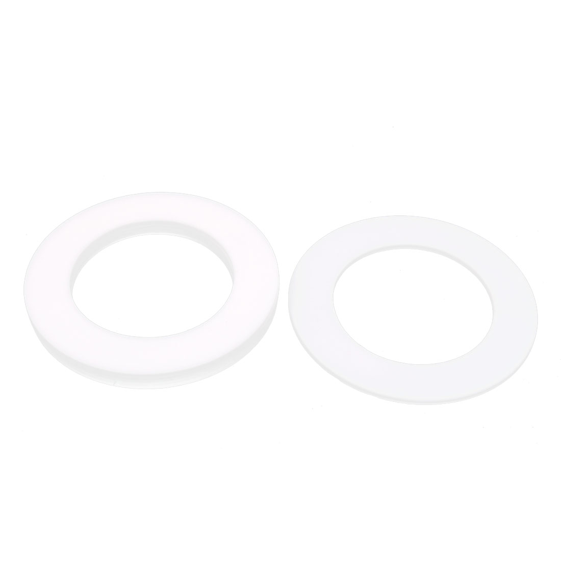 DN80 138 x 89 x 3 PTFE Flange Gasket Sanitary Pipe Fitting Ferrules White 5 pcs