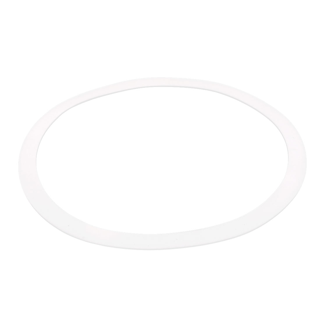 DN400 490mm x 426mm x 3mm PTFE Flange Gasket Sanitary Pipe Fitting Ferrule White
