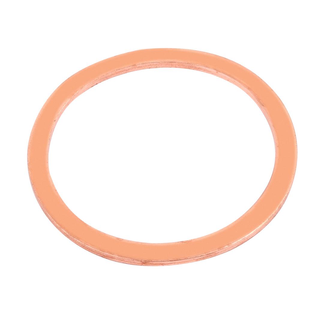 58mm x 48mm x 2mm Flat Ring Copper Crush Washer Sealing Gasket Fastener