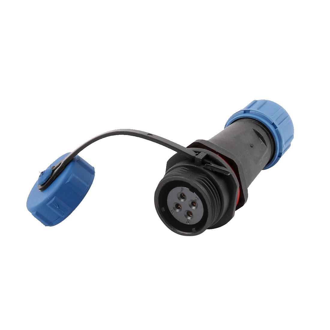 AC 500V 4 Terminals SP1311/S Waterproof Aviation Socket Dustproof Adapter Connector