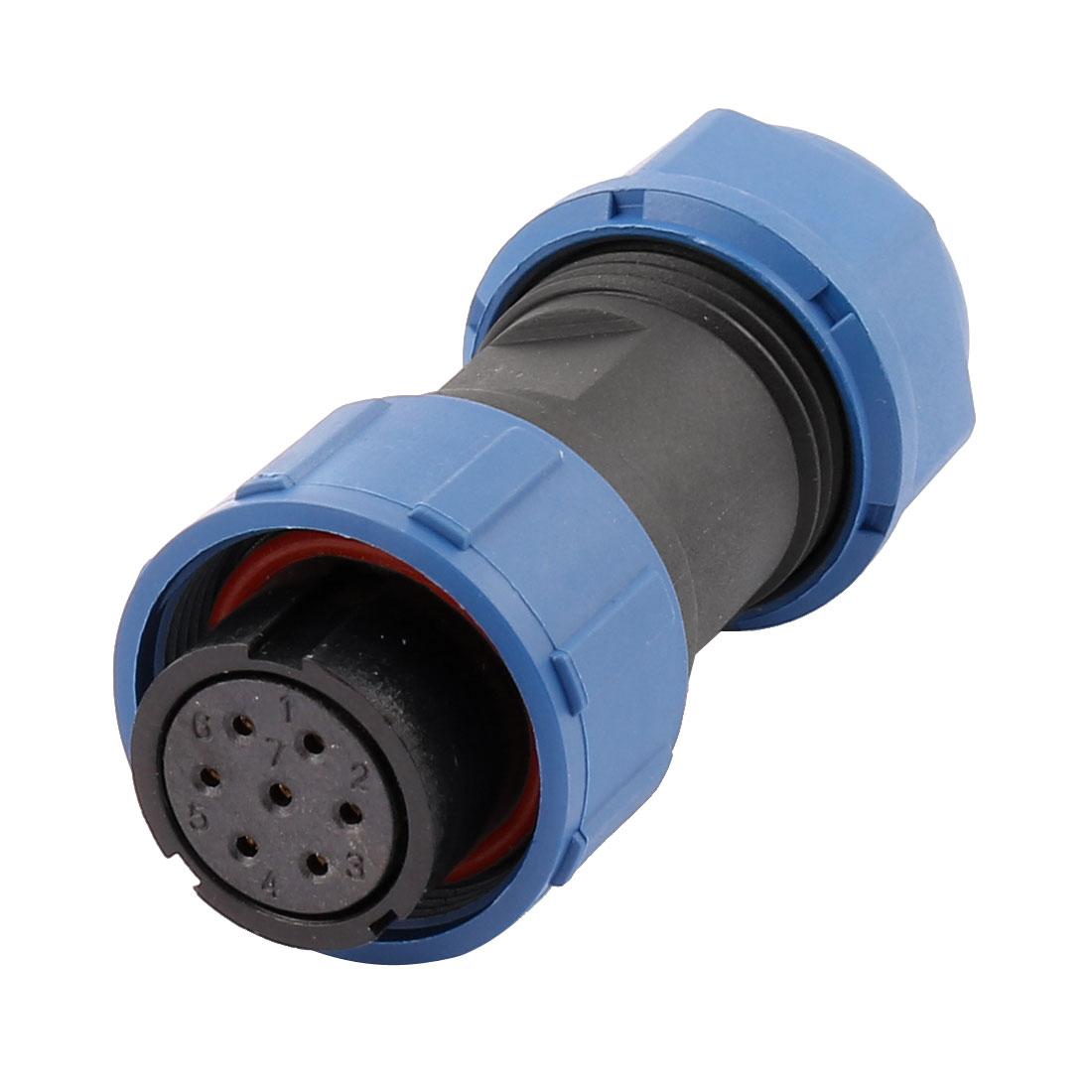AC 500V 7 Poles SP1710/S Waterproof Aviation Socket Dustproof Adapter Connector