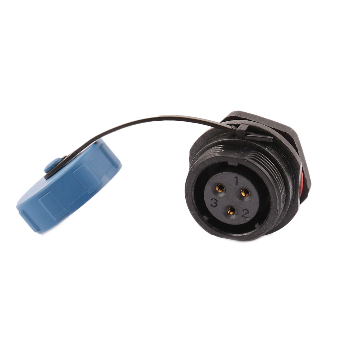 AC 500V 3 Poles SP1712/S Waterproof Aviation Socket Dustproof Adapter Connector