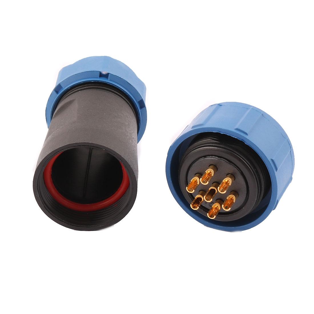 AC 500V 7 Poles SP2110/S Waterproof Aviation Socket Dustproof Adapter Connector