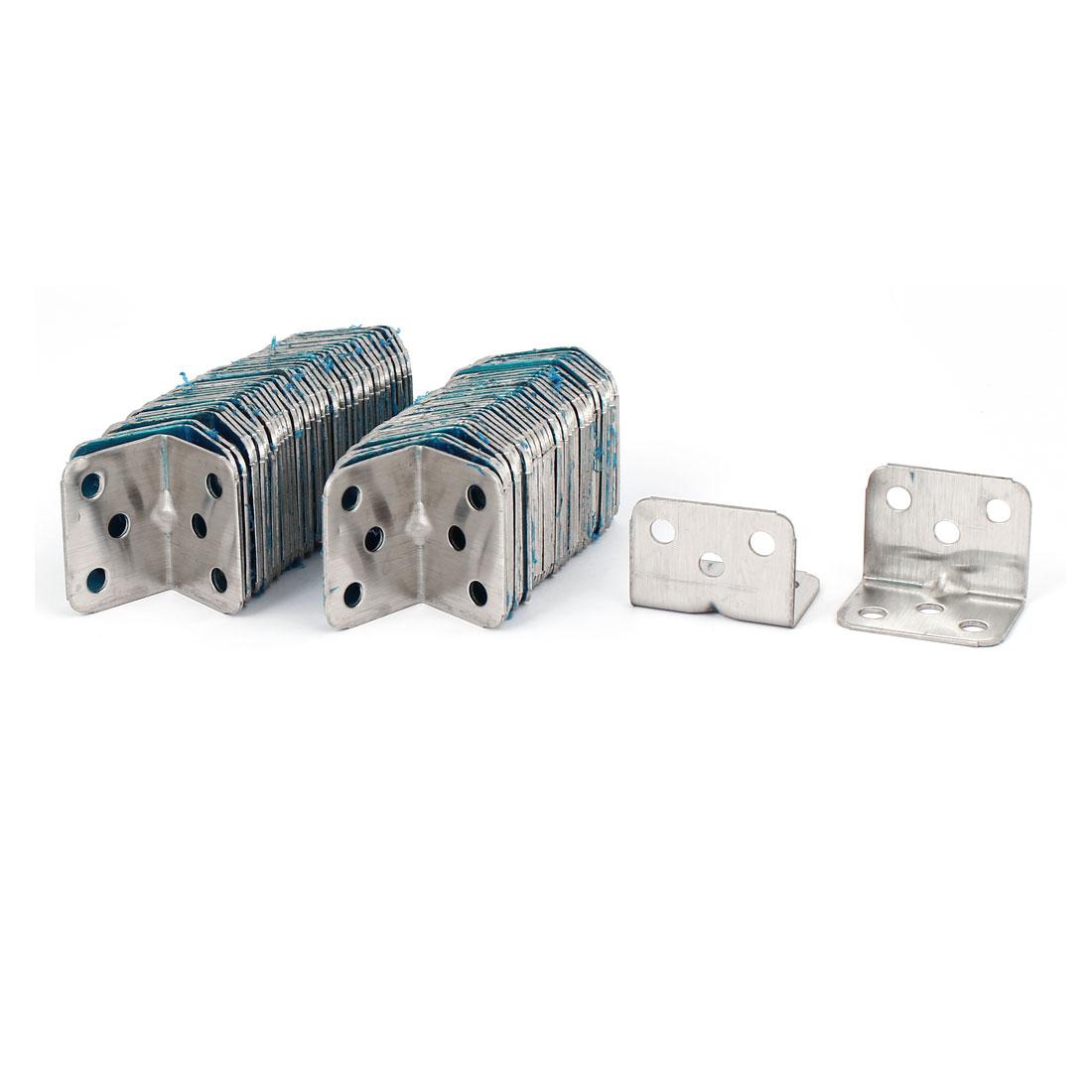 28mm x 28mm x 1.3mm Stainless Steel 90-Degree Corner Brace Angle Bracket 80PCS