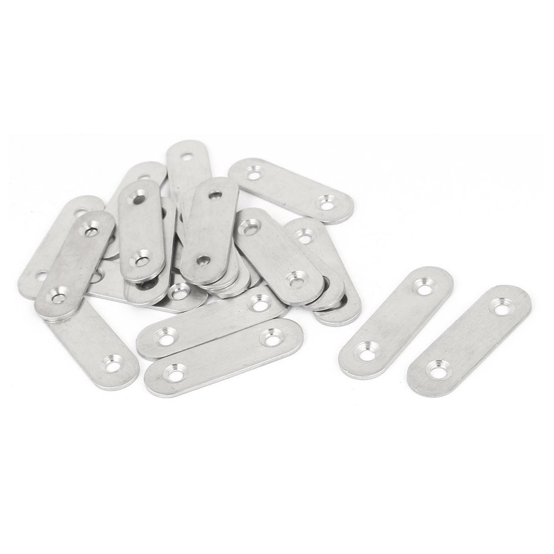 50mm x 15mm x 2mm Straight Corner Brace Bracket Flat Mending Repair Plate 20PCS