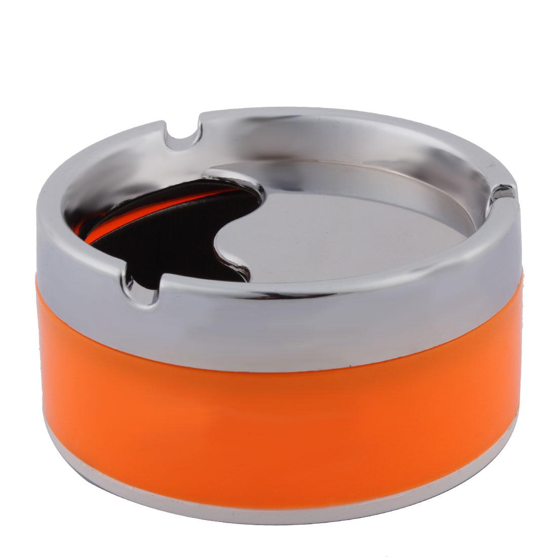 Household 3 Grooves Design Rotatable Cigarette Holder Case Ashtray Container 10cm Dia