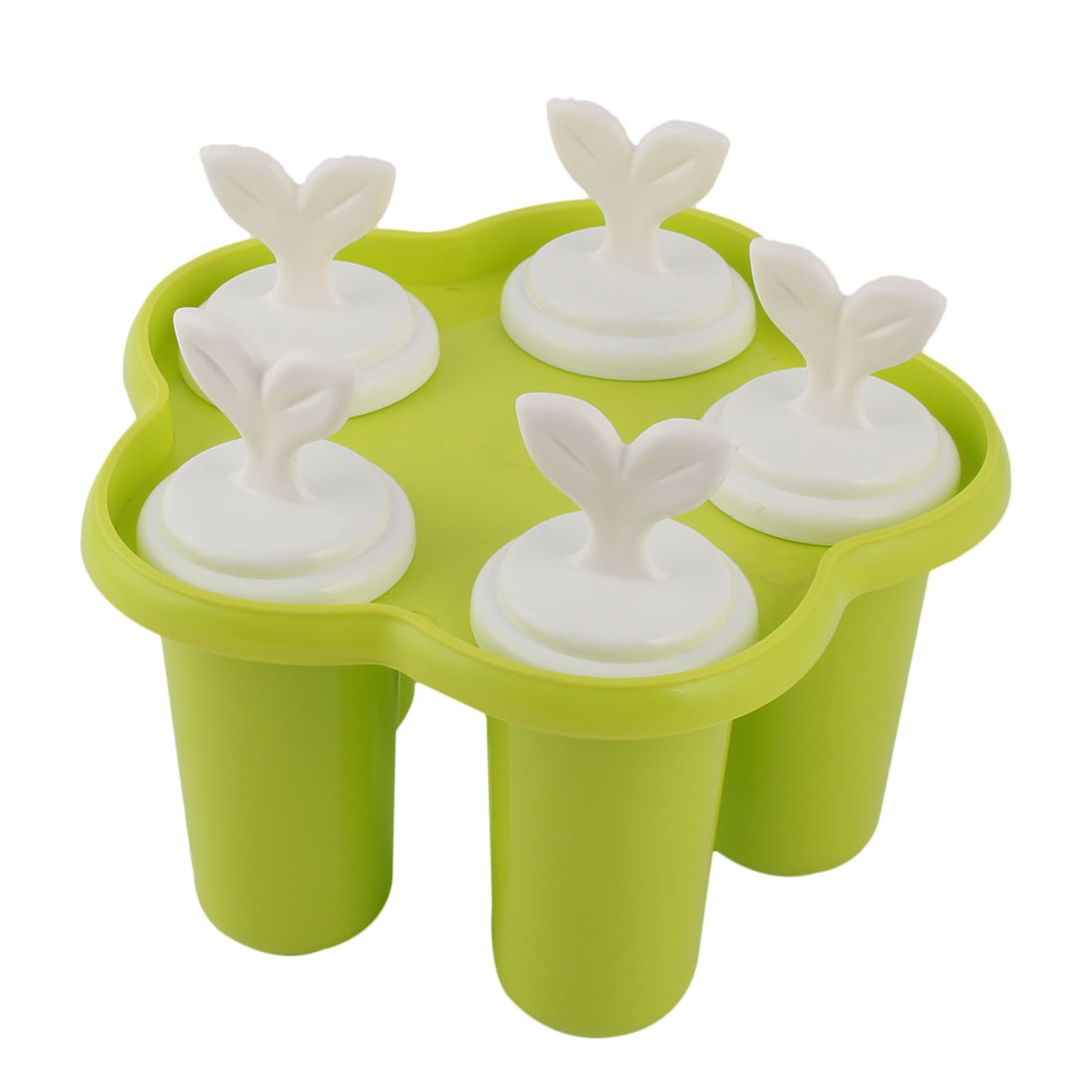 Home Plastic DIY Ice Cube Frozen Juice Popsicle Frame Sherbet Maker Mold Light Green