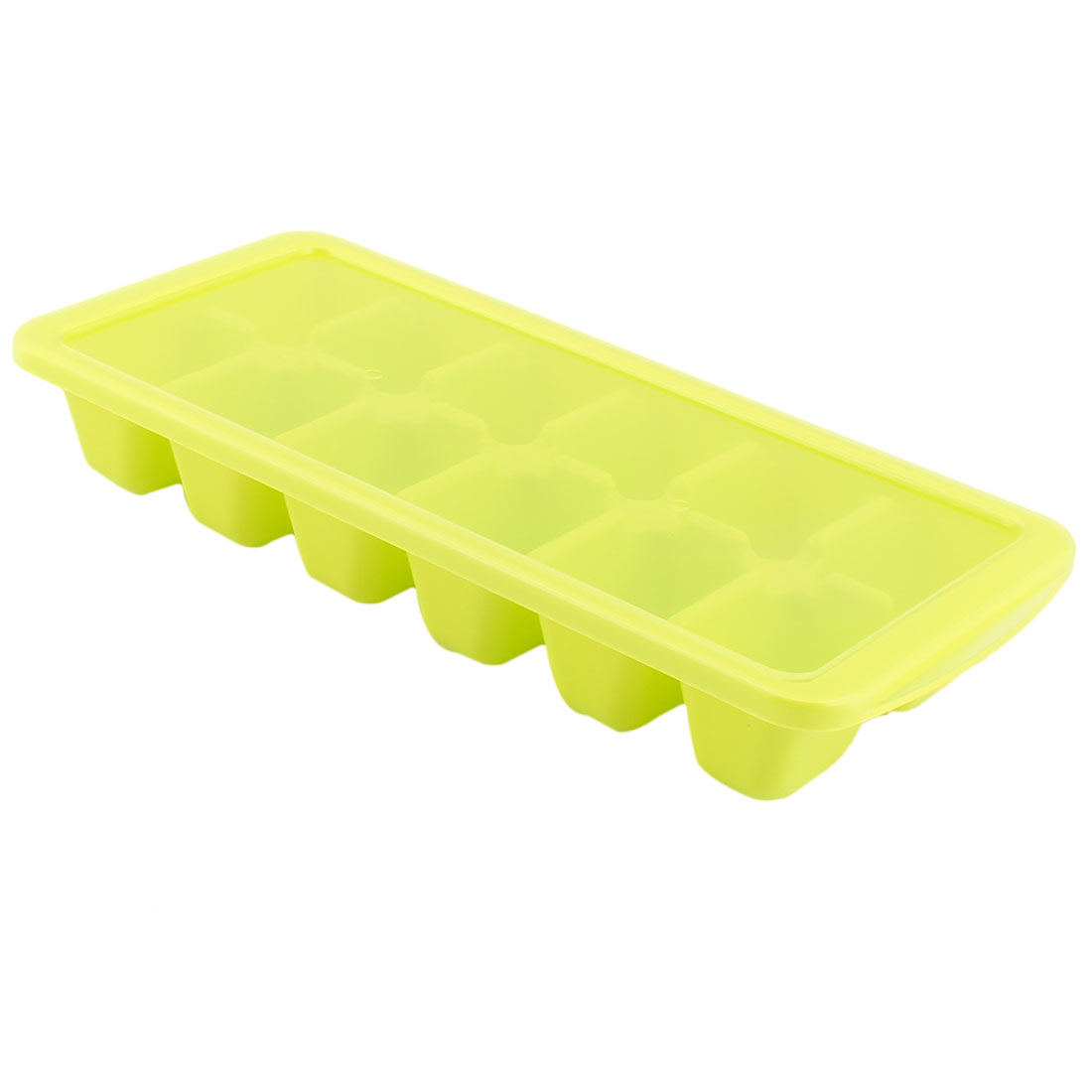 Household Plastic DIY Juice Popsicle Frame Ice Cube Tray Mold Maker Light Green